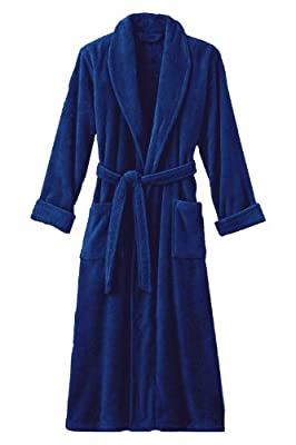 Spa and Resort Terry Velour Bathrobe 100% Cotton Terry Bathrobe - 12 Colors