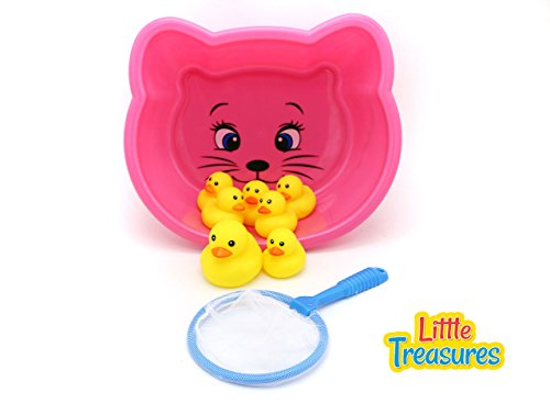 Little Treasures Ducks Baby Bath Toy Set for 18+ Months Toddlers, Lovely Mother Duck with 6 Ducklings Bathtub Toy Playset from Little Treasures