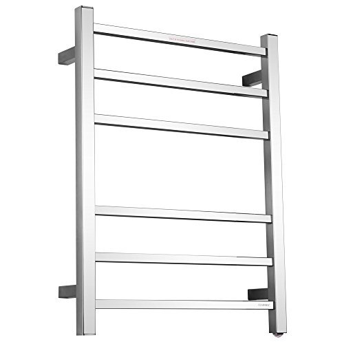 - SHARNDY Towel Warmers 6 Square Bars ETW13C Chrome Towel Racks for Bathroom 68W UL Listed