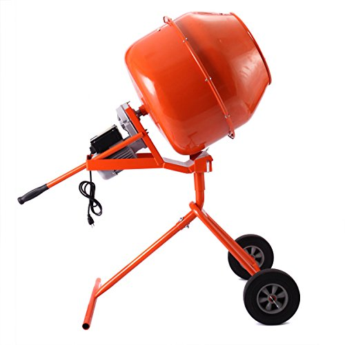 Electric Portable Vertical 5 Cubic Foot Concrete Mortar Cement Stucco Mixer for inoculating seeds