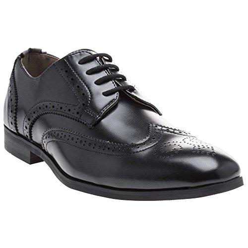 Curtis Homme Peter Noir Chaussures Noir Brogue Werth 0zxx8g