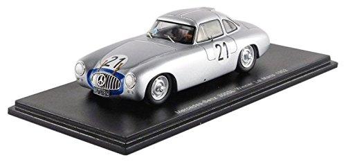 Spark – – 43lm52 – – Mercedes-Benz 300SL – Gewinner Le Mans 1952 – Maßstab 1/43 – Silber/Blau 1ee1fa