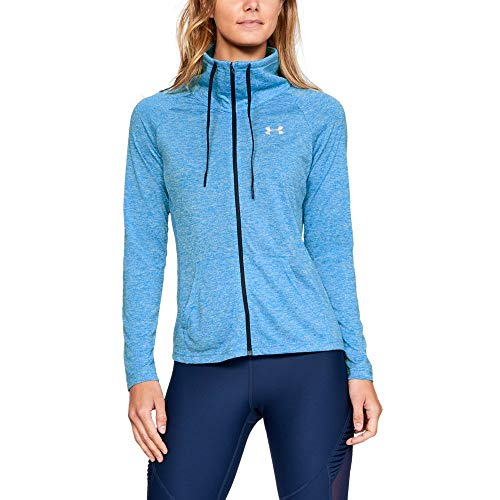 Under Armour Women's Tech Full Zip Twist, Blue Circuit (436)/Metallic Silver, ()