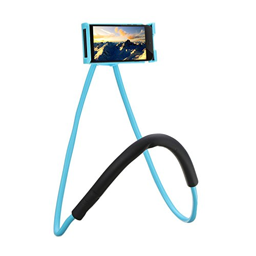Phone Neck (Neck Cell Phone Holder for Desk Bed,Bike and Motorcycle Phone Mount ,Universal Lazy Bracket Mobile Phone Stand Holder (Blue))