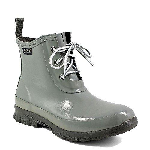 Bogs Boots Womens Amanda Chukka Lace up Waterproof 7 Gray 72096