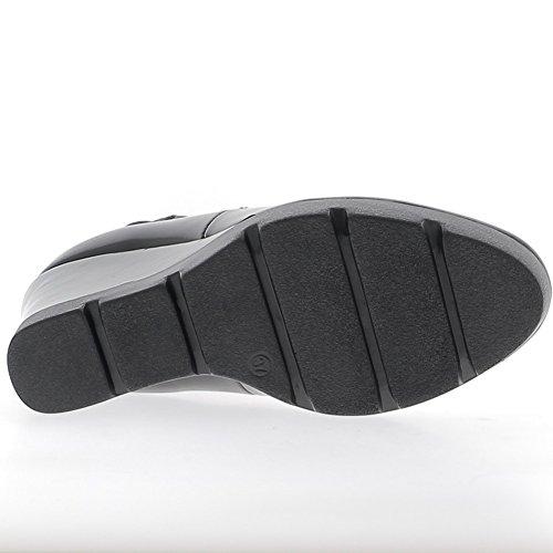 Stivali a tacco 10,5 cm bi materiale nero