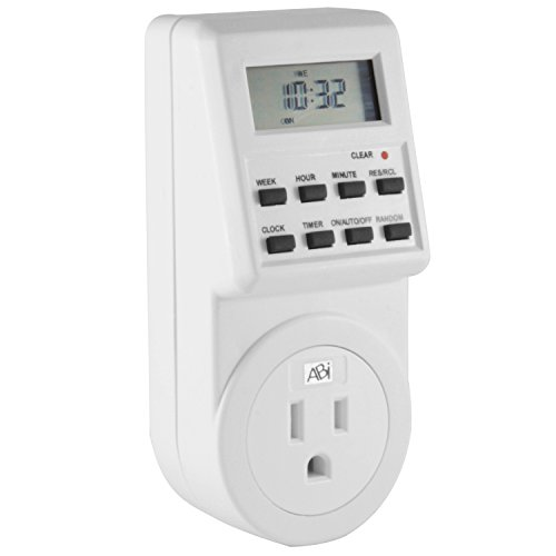 ABI Digital Power Timer 7-Day Programmable Grounded 3-Pro...