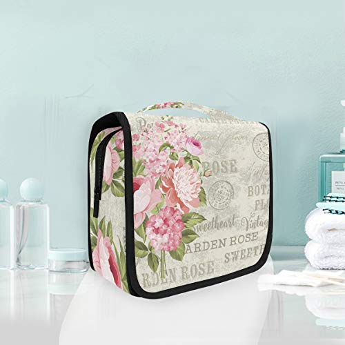 Toiletry Bag Flower Garland For Invitation Portable Makeup Storage Cosmetic Bag -