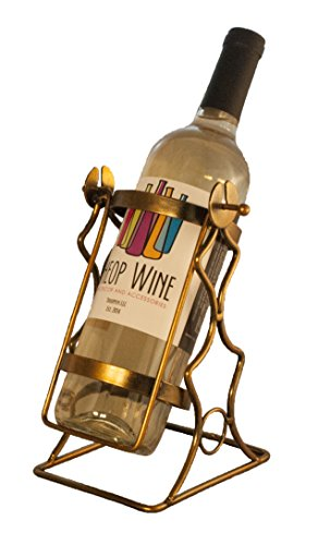 Single Bottle Wine Rack (TheopWine Single Bottle Swinging Wine Bottle Holder - Comes in Gift)