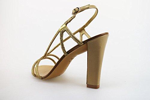 Damen AG309 Textile Strass EU CRUZ LOLA Leder Gold Sandalen 36 pAqxZE6wB