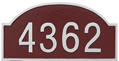 Comfort House Metal Address Plaque Personalized Arch Top. Display your house number. Custom house number sign 67813F1 wall mount. ()