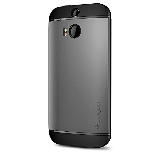 Spigen Slim Armor HTC One M8 Case with Air Cushion Technology and Hybrid Drop Protection for HTC One M8 - Gunmetal