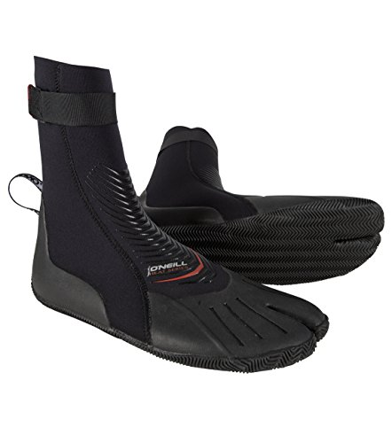O'Neill Wetsuits Heat 3mm Split Toe Booties, Black, 9 ()