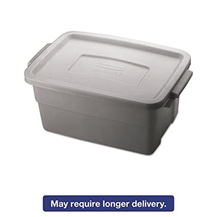 RHP2213STE   Rubbermaid Roughneck Storage Box, 3gal, Steel Gray