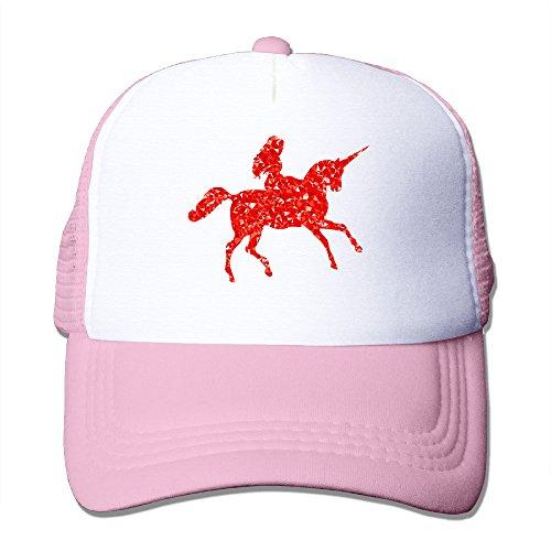 Vintage Golfer Costume (Lihed Woman Riding Unicorn Trucker Cap Hat Golfer Mesh Back Caps Hats Pink)