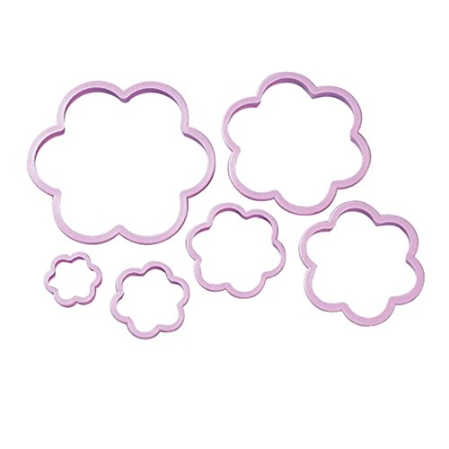 Wilton Nesting Plastic Cookie Cutter Set, Flowers, 6-Pack