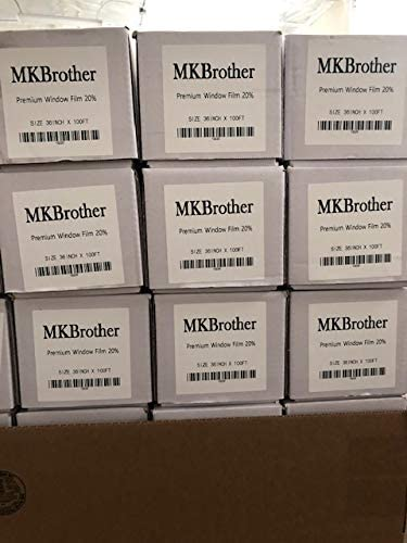 Mkbrother 2PLY 1.5mil Professional Uncut Roll Window Tint Film 20/% VLT 36 in x 15 Ft Feet 36 X 180 Inch