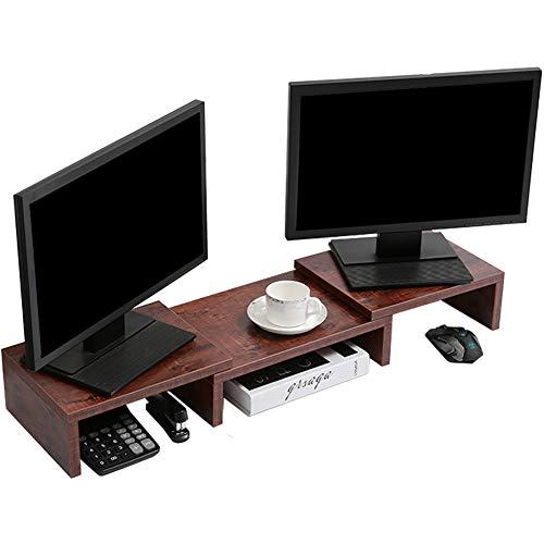 SUPERJARE Monitor Stand Riser, Adjustable Screen Stand for Laptop Computer/TV/PC, Multifunctional Desktop Organizer…