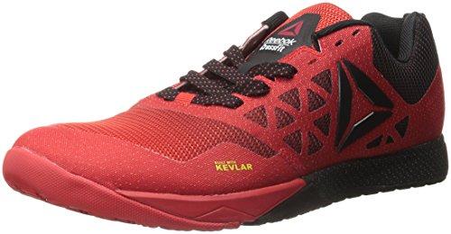 Reebok Men's Crossfit Nano 6.0 Cross-Trainer Shoe, Riot Red/Black/Pewter, 10 M US