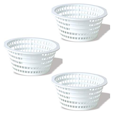 - Swimline 8928 Olympic ACM88 Replacement Swimming Pool Skimmer Basket White (3 Pack)