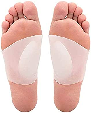 One Pair Arch Support Soft Gel Plantar Fasciitis Sleeves for Flat Foot Pain Relief for Men Women Size S