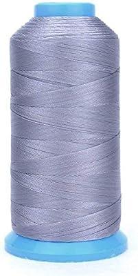 WheateFull - Hilo de coser de nailon fuerte para exteriores, asientos de cuero, bolsos, zapatos, lona, tapicería y máquina de coser gris: Amazon.es: Hogar