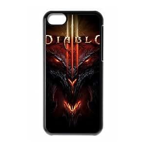 Generic Design Back Case Cover Ipod 6 Touch6 Cell Phone Case Black Diablo Nvtsd Plastic Cases