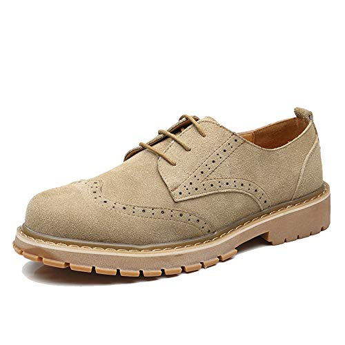 Casual Casual Dimensione British Khaki Color Color Moda shoes Cachi 43 Stivaletti Stile Stivali Top EU alla High Optional High da Uomo Xiazhi intagliati Martello Stile Brogue Top 7vq1ww