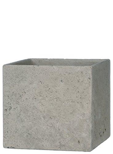 Vase Square 8 (Sullivans Square Cement Pot, 8 x 8 x 7.5 Inches, Gray (CMT1100))