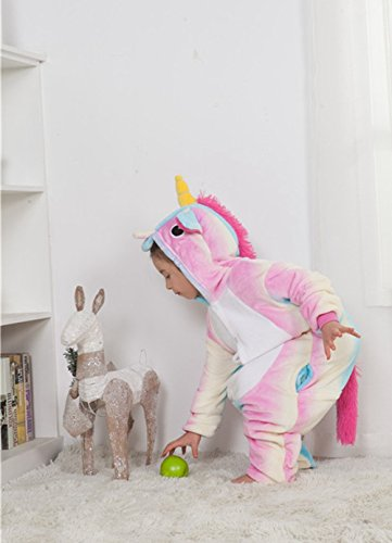 Famycos One-piece Animal Costumes Pajama for Unisex Family School Cosplay Party Colored Blue Unicorn Kids-10 by Famycos (Image #5)