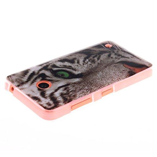 KATUMO® Lumia 635 Funda Silicona, Protectora Cubierta Cristal Clear Case Cover para Nokia Lumia 630 635 Carcasa Gel Tapa Transparent Caja-Búho Tigre