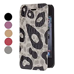 Leopard Print Super Thin Full Body Hard Case for iPhone 4/4S (Optional Colors) --- COLOR:Purple