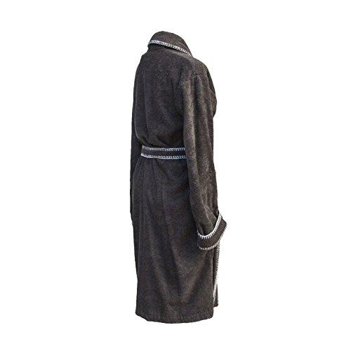 HNL Living - Badjas - Bamboo Katoen - M - Taupe gris antracita