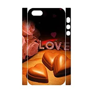 3D Love chocolate For Iphone 5C Phone Case Cover White