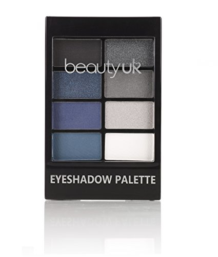 Beauty UK PRO HI-TECH Maximum Intensity and Long-Lasting Formula Professional Eyeshadow Palette no.6 for a Smokey Denim Look - After Dark