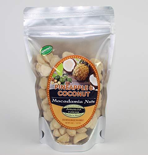 AHUALOA FARMS Pineapl & Toasted Coconut Macadamia Nuts, 8 OZ ()
