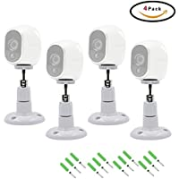 FIZZE Security Wall Mount for Arlo Camera,4 Pack Indoor and Outdoor Mount for Netgear Arlo Camera and Arlo Pro,CCTV,DVR,4 Pack,White Color