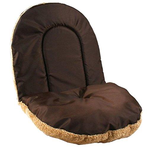 Casa de animal domestico - HOOPET iglu de cuerva de estera caliente de dormido de casa de cama de gatito gato perrito perro suave y lujosa(cafe, ...