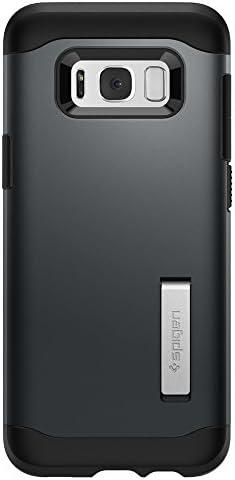 Samsung Galaxy S8 Plus Hülle Spigen Slim Armor 571cs21121 Integrierter Kickstand Case Schutzhülle Für Samsung Galaxy S8 Plus Case Metal Slate Elektronik