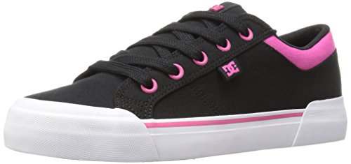 DC Women's Danni TX Skateboarding Shoe, Black/Fuchsia, 11 M US
