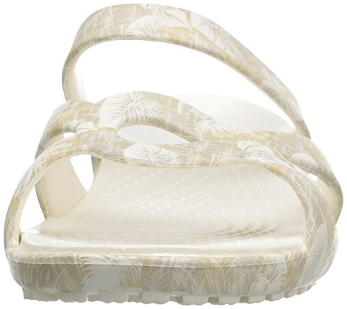 Crocs Meleen Wedge Sandal Tropical Women's Cobblestone Graphic Twist Tr5qT4w