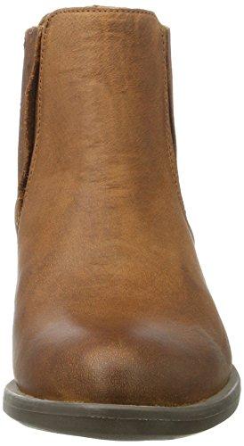 Mela Di Eden Damen Sting Chelsea Boots Braun (cognac)