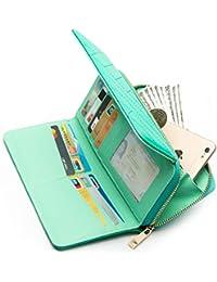 Women's Wallet RFID Blocking Large Capacity Ladies Card Holder Long Clutch Phone Purse