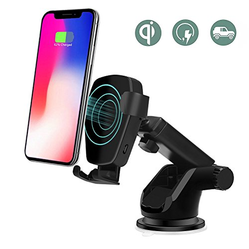 Wireless Car Charger,Phone Holder Gravity Car Mount (Black) by Lottogo
