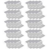 ECO LLC 10 Sets (40pcs) Solar Panel Z Mounting Bracket Kits Brackets W/Stainless Bolt