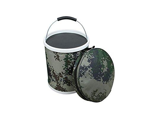 Rabendaco バケツ おりたたみ コンパクト 多機能 水汲み/ゴミ袋/バッカン 収納バッグ付属 迷彩 11Lの商品画像