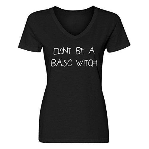 Vneck Dont Be a Basic Witch Medium Black Womens -