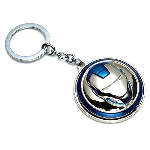 (Inestimable Collection Metal Iron Man Avengers Marvel Superheros Spinner Key Chain (Blue))