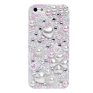 Romantic Four-leaf Clover Pattern Metal Jewelry Back Case for iPhone 5/5S