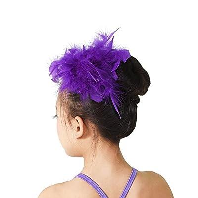 MiDee Girls Headbands Floral Feather Headpiece Hair accessories
